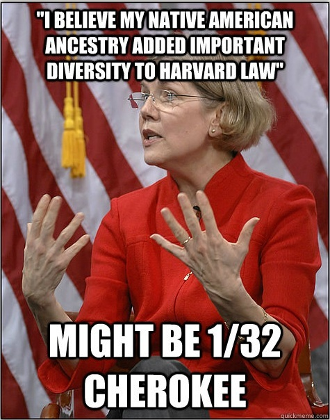 Elizabeth Warren: Fake Indian, Consumer Protection Racketeeress, Nasty Package.
