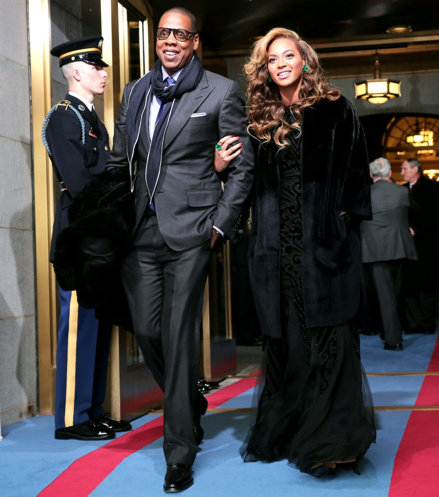 Beyoncé and Jay-Z marching in solidarity with the charred ruins of Ferguson and Baltimore.