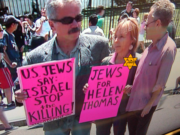 Self-hating Jew Medea sings the praises of Jew-hating harridan Helen Thomas.