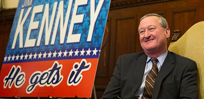Jim Kenney, Philadelphia Mayor, this week's Poster Boy Queen of DeNial