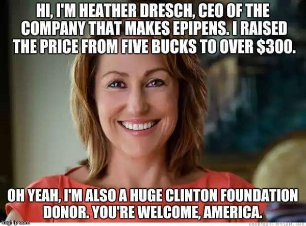 Heather Bresch: Clinton Crony Capitalist with the Queen Bee stinger