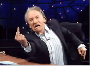 "Bill Maher: PC Prog stooge hiding behind a mask of ""political incorrectness."""